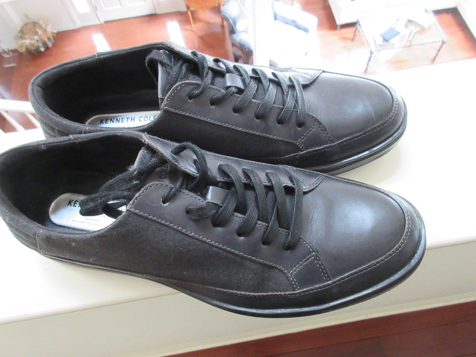 Kenneth Cole , Men's Silver Technology Grand Stand , Sneaker , Black/Black , 10M - $65.00