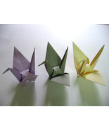 U Pick - 100 Small Purple / Grey / Ivory Origami Cranes - $15.00