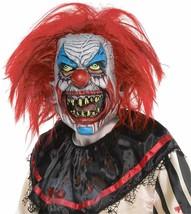 Amscan Slasher Scary Clown Killer Horror Mask Adult Halloween Costume 848707 - $26.24