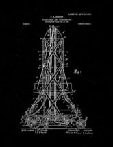 Fire-truck and Fire-escape Patent Print - Black Matte - $7.95+