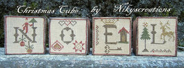 Christmas Cube cross stitch chart Niky's Creations - $12.60