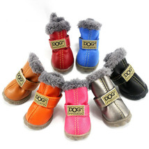 Pet Dogs Shoes Waterproof Small Big Dogs Boots Cotton 4Pcs Non-Slip Boot... - $14.54+