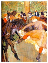 "Toulouse Lautrec ""The Dancers"" Vintage Giclee CANVAS Art Print - $19.95"
