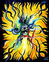 EYE OF NIRVANA / ETERNITY, Original Fantasy Art 16 x 20, by Sofia Metal ... - $165.00