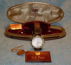 GIFT LORD ELGIN GOLD Mens Wrist Watch WORKING O... - $798.00