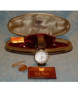 GIFT LORD ELGIN GOLD Mens Wrist Watch WORKING Original Case Original Boo... - $798.00