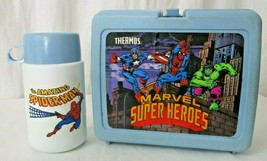 Marvel Superheroes Spiderman lunchbox and thermos 1990 - $24.74