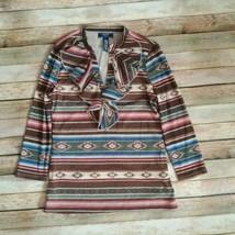 Chaps  Women Top Tribal Design Medium Size - $11.88