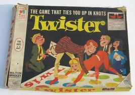 Vintage 1966 TWISTER Game Milton Bradley in Original Box Mat and Spinner - $6.83
