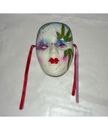 Handmade NEW ORLEANS WICCAN Ceramic Wall Mask for good Ganga - $10.00