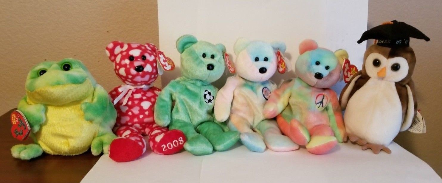 5519324e26d Beanie Babies lot of 10 all with tags -  50.00