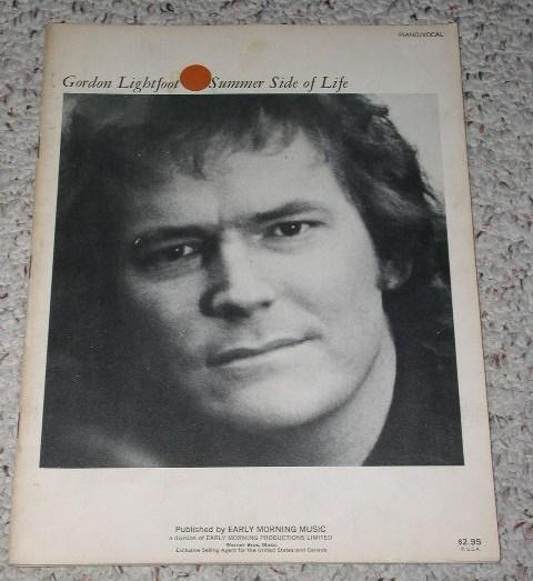 Gordon Lightfoot Song Book Vintage 1971 Folk Music