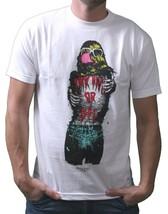IM King Hombre Blanco Loudmouth Chillón Boca Gráfico Camiseta Ee.uu. Hecho Nwt image 1
