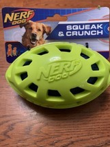 Nerf Squeek And Crunch Ball Dogs Toy/ NWT/ Blue And Green - $9.99