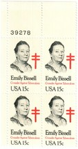 1980 Emily Bissell Plate Block of 4 US Postage Stamps Catalog Number 1823 MNH