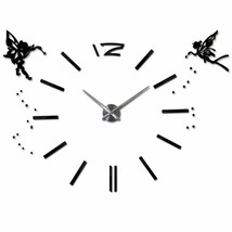 3D DIY Modern Large Wall Clock Angels Oversized Stylish Gift Acrylic Hom... - $35.78