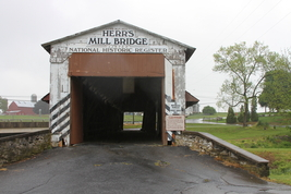 Herr's Mill Covered Bridge 13 x 19 Unmatted Photograph - $35.00