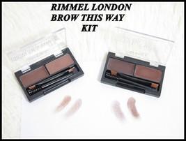 Rimmel London BROW THIS WAY Eyebrow Kit Wax + Powder & Brush - Long Lasting - $6.83