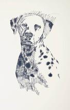 Dalmatian Dog Art Portrait Print #57 Kline adds dog name free. Drawn from words - $49.95