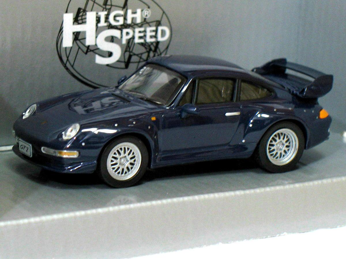 porsche 911 gt2 1996 blue 1 43 die cast model car diecast toy vehicles. Black Bedroom Furniture Sets. Home Design Ideas