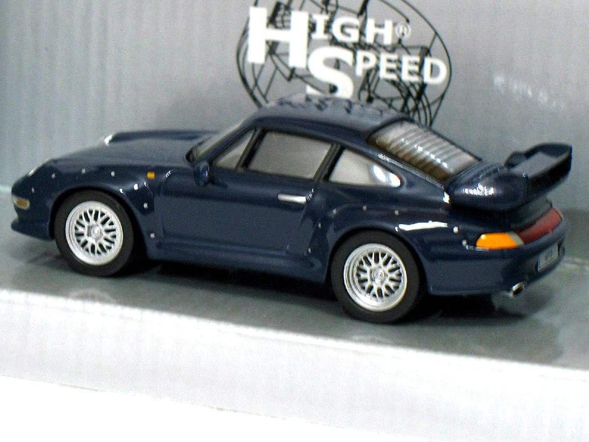 porsche 911 gt2 1996 blue 1 43 die cast model car. Black Bedroom Furniture Sets. Home Design Ideas