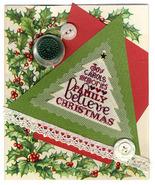 Believe christmas with silk gauze star charm cross stitch chart Erica Michaels - $13.50