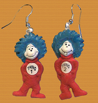 THING 1-THING 2 EARRINGS-Cat in the Hat Dr Seuss Costume Jewelry - $8.97