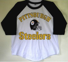 Pittsburgh Steelers Baseball Tees Black / White Shirt (S / M / L / XL) 2... - $24.74+