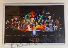 "Star Wars Empire Galaxy Far away Wall Metal Sign plate Home decor 11.75"" x 7.8"" image 1"