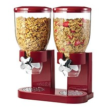 Honey-Can-Do Double Cereal Dispenser with Portion Control, Red and Chrome - $31.38