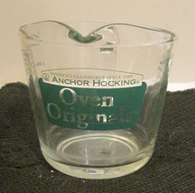Green Lettering Anchor Hocking - FOUR Cup -  Measuring Cup Oven Original... - $55.75