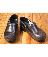 Dansko 38 7.5 8 Metallic Sequin Slip On Stapled Clogs - $34.20