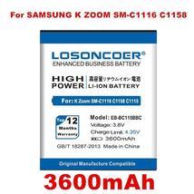 Losoncoer 3600mAh EB-BC115BBC Battery For Samsung Galaxy K Zoom SM-C1116 C1158 C - $17.74