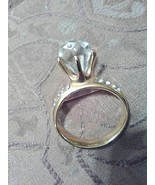 VINTAGE GOLDEN PIN BROOCH THE BIG DIAMOND RING !!!! - $12.00