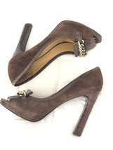 Nine West Brown Suede/Leather Fringe Open Toe Loafer Pumps Size 10M with... - €20,21 EUR