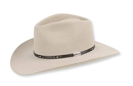 Stetson Pawnee - (5X) Fur Cowboy Hat Silverbelly Color size 6 3/4 - $197.99