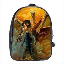 School bag godzilla mothra ghidorah rodan bookbag 3 sizes - $38.00+