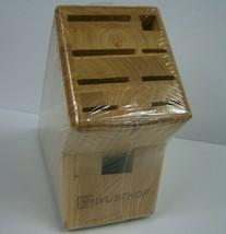 Wusthof 9 Slot Wood Wooden Knife Block New Sealed - $34.20 CAD