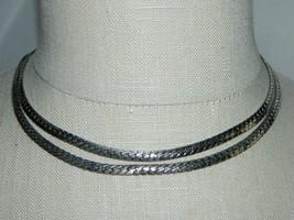 VTG CORO PEGASUS 1940s Silver Tone Dual Chain Link Choker Necklace - $39.60