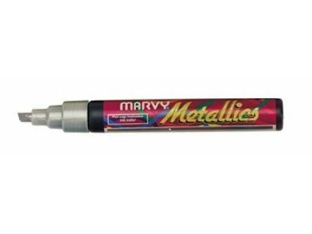 Marvy Metallics, Water-based Pigmented Ink Pen, Silver