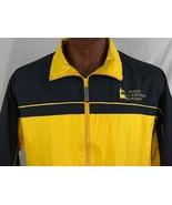 Maine Lighthouse Museum Yellow Zippered Jacket Outerwear Windbreaker L L... - $32.82