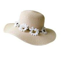 Hat Child Children Folding Beach Hat UV Girls Summer Sunscreen Large Brimmed image 2