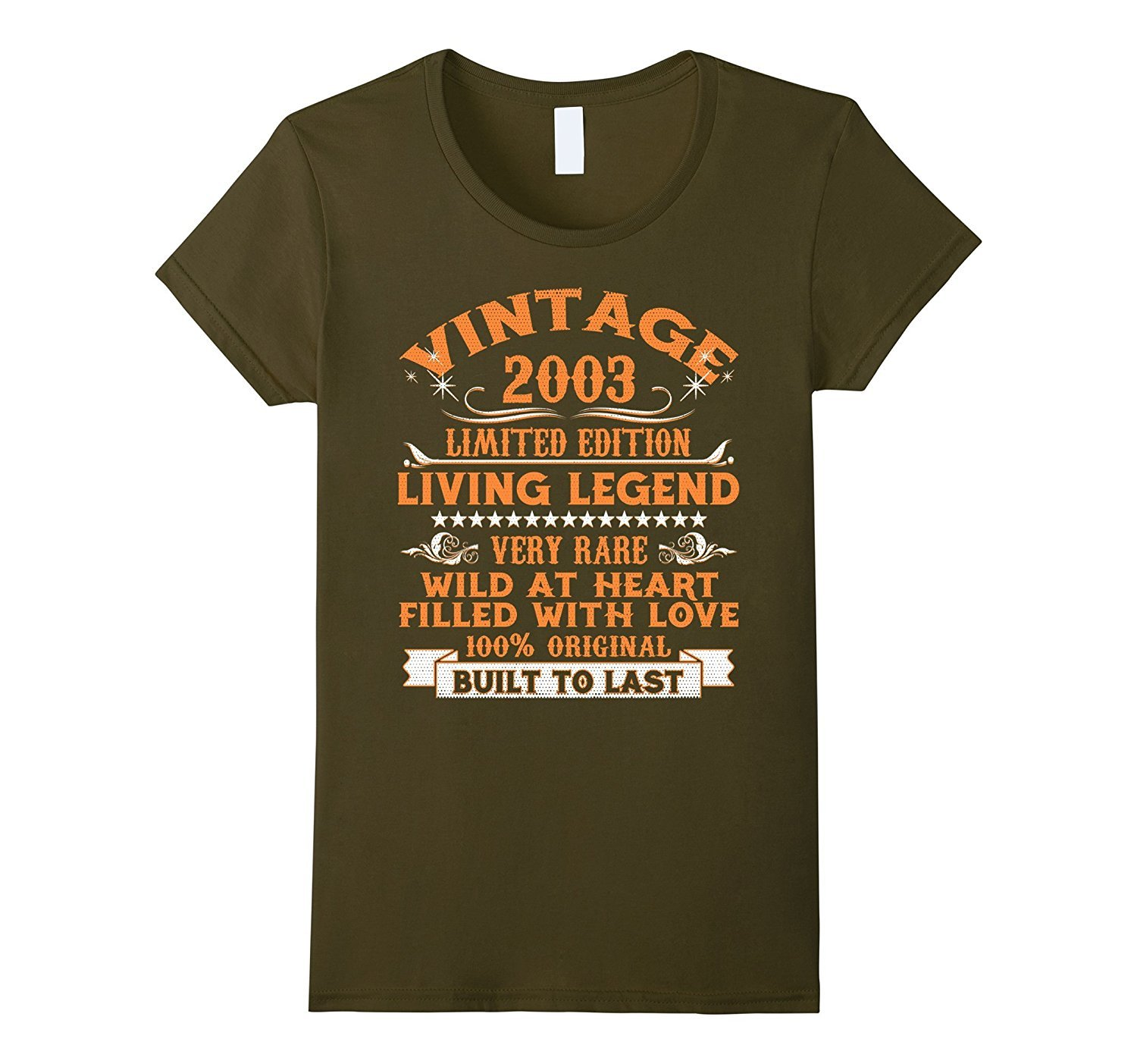 New tee vintage 2003 15 years old 15th birthday gift t for T shirts for 15 year olds