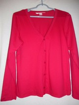 Red Victoria's Secret Size S top  Long sleeve button front v neck - $14.84