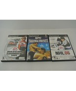 UFC Sudden Impact Nascar Thunder 2004 NHL 06 (Playstation 2) Lot of 3 PS2 - $19.34