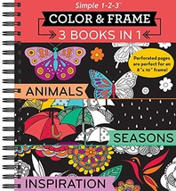 Color & Frame Coloring Book - 3 in 1 - Animals Seasons & Inspiration - $26.34