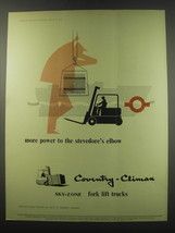 1957 Coventry Climax Sky-zone Fork lift trucks Ad - More power to the  - $14.99