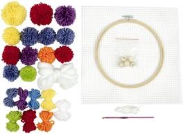 Fabric Editions Needle Creations Crochet Wall Hanging Kit-Rainbow - $25.26