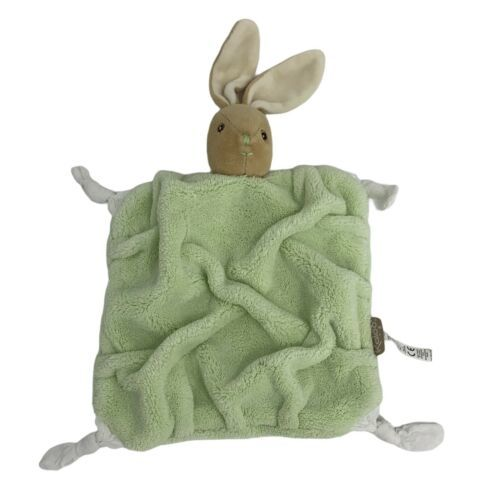 Primary image for Kaloo Doudou Plush Green Plume Rabbit Comforter Baby Lovey Knotted Bunny Flat