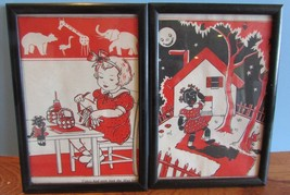Vtg wall decor Picture TOPSY TURVEY AND THE TIN... - $14.85